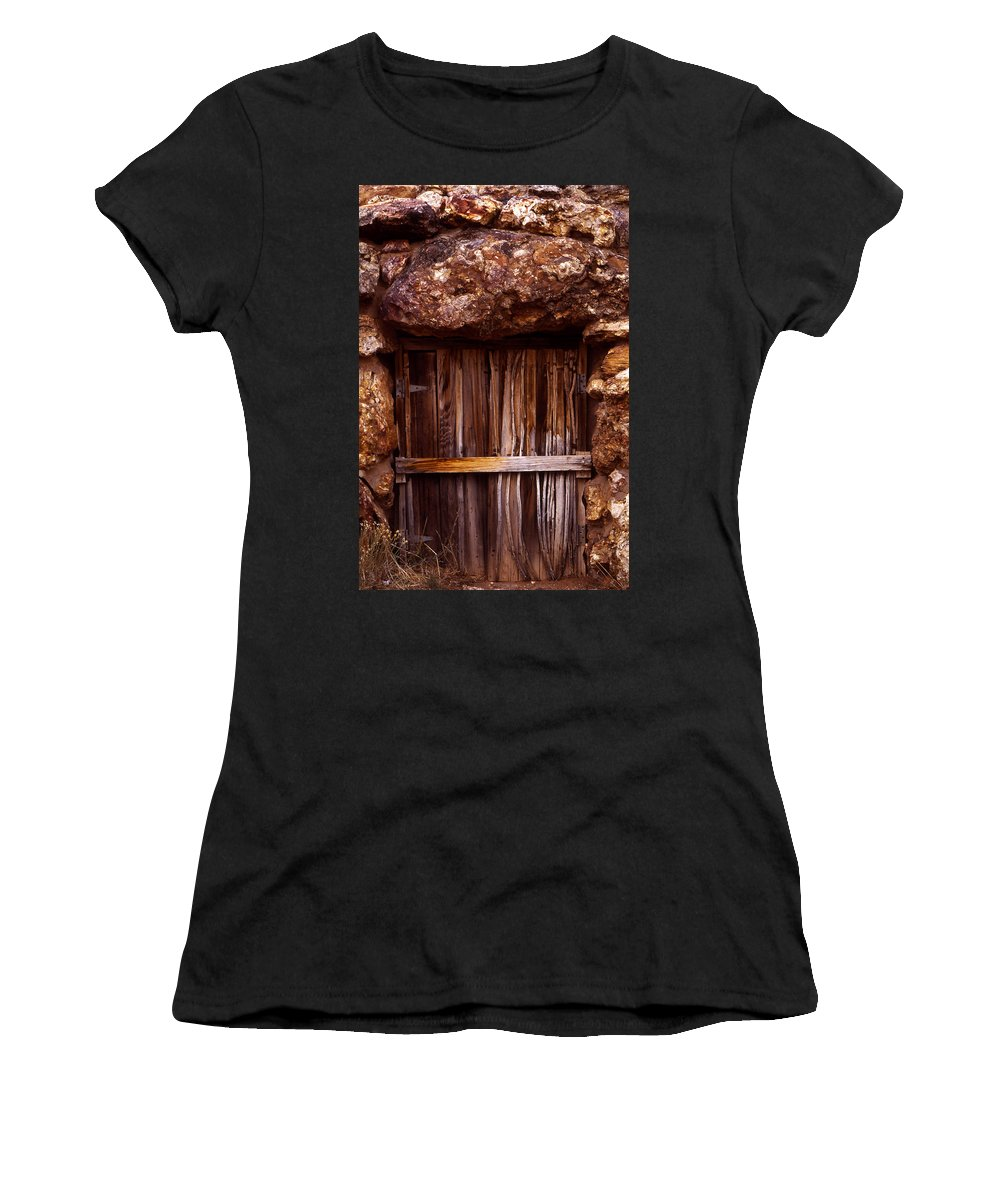 Door Women's T-Shirt (Athletic Fit) featuring the photograph Door by Karen Ulvestad