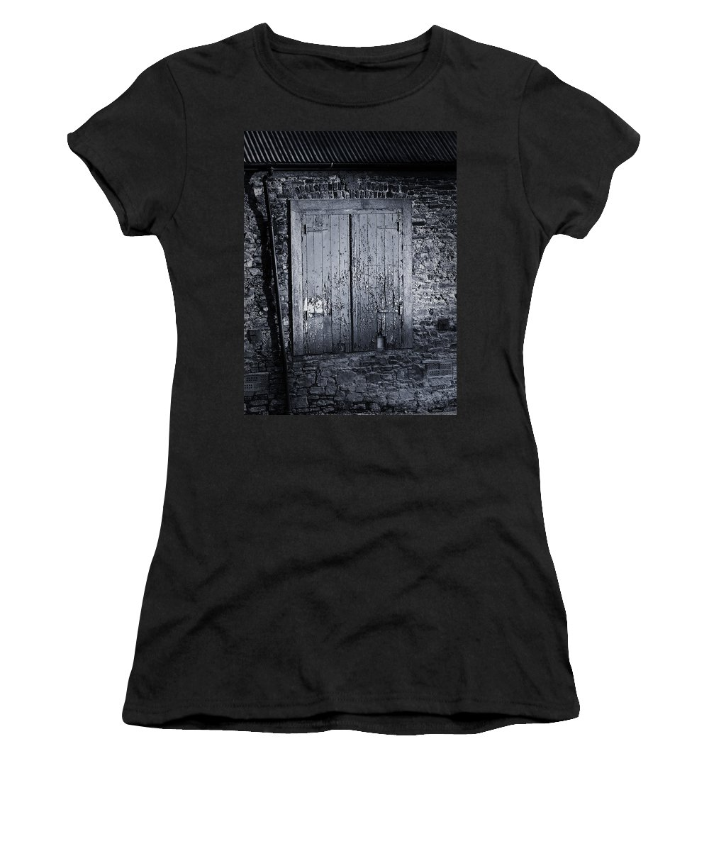 Irish Women's T-Shirt (Athletic Fit) featuring the photograph Door To Nowhere Blarney Ireland by Teresa Mucha