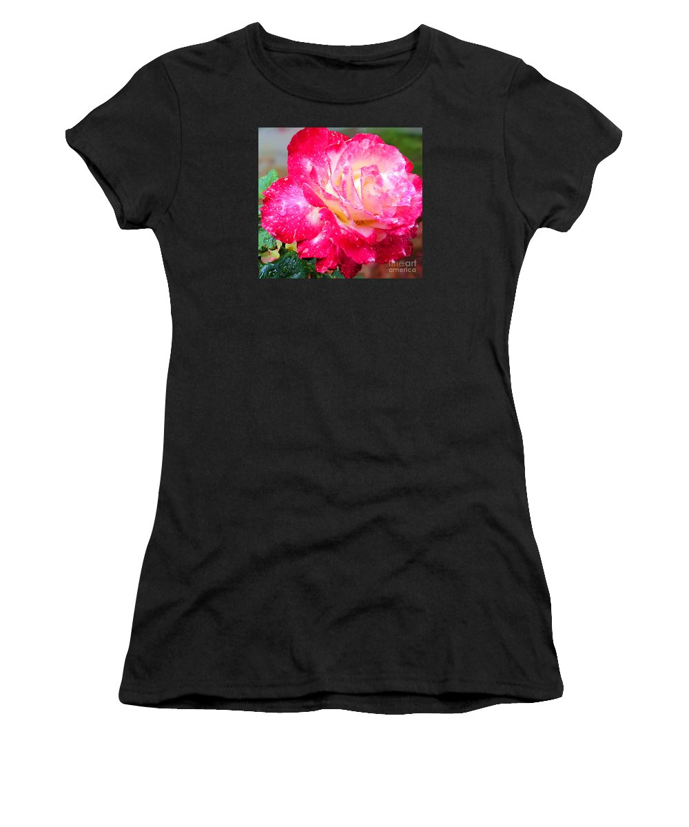 Fine Art Photography Women's T-Shirt (Athletic Fit) featuring the photograph Double Delight by Patricia Griffin Brett