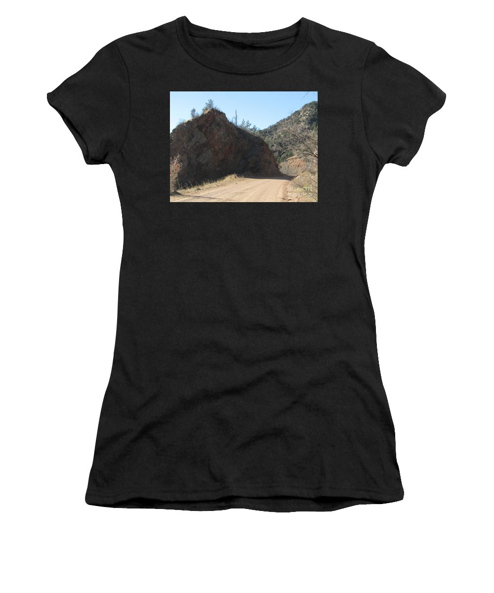 Women's T-Shirt (Athletic Fit) featuring the photograph Down The Hall And To The Left by Kelly Awad