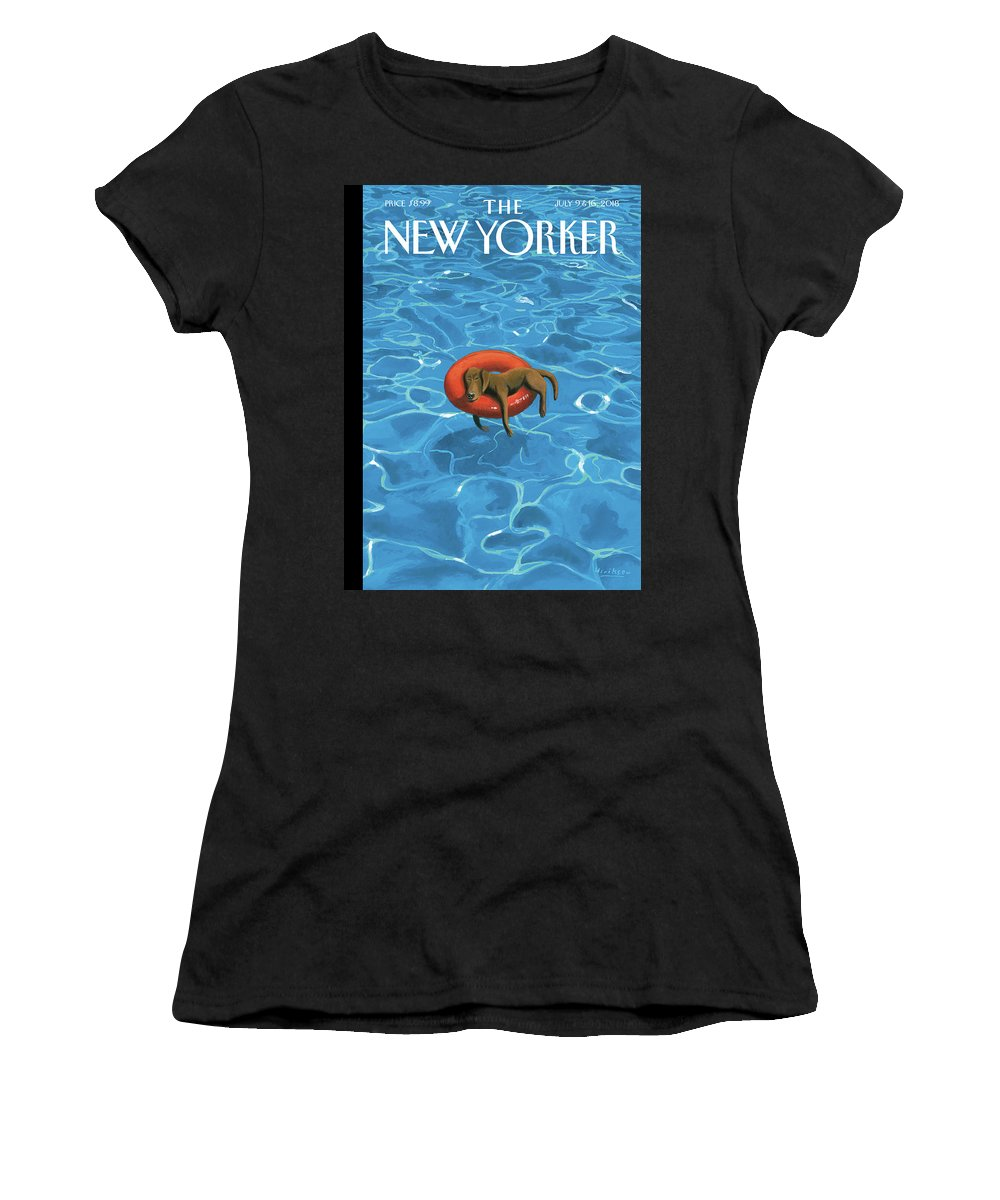 Downtime Women's T-Shirt featuring the drawing Downtime by Mark Ulriksen