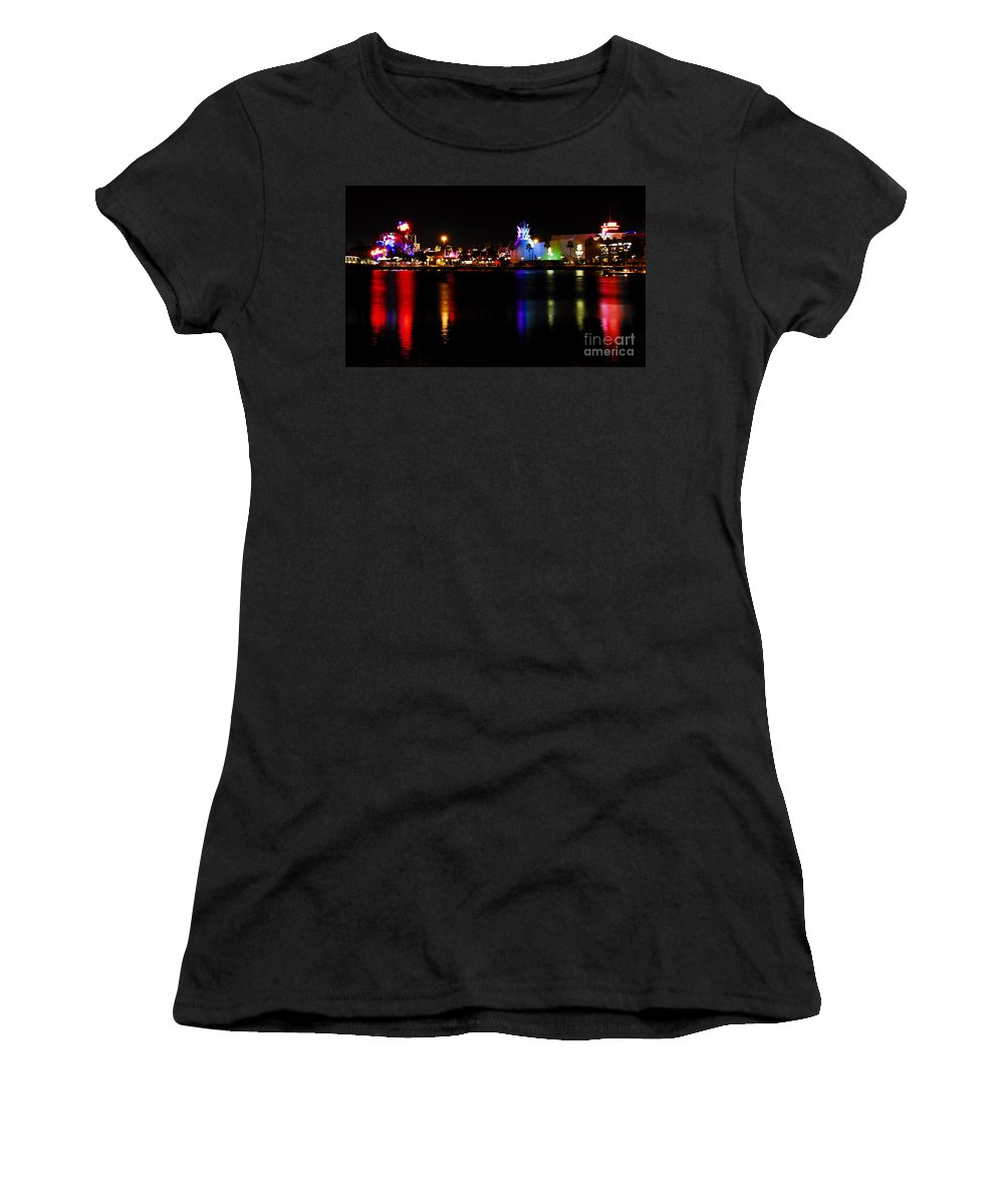 Downtown Disney Women's T-Shirt (Athletic Fit) featuring the photograph Downtown Disney by David Lee Thompson