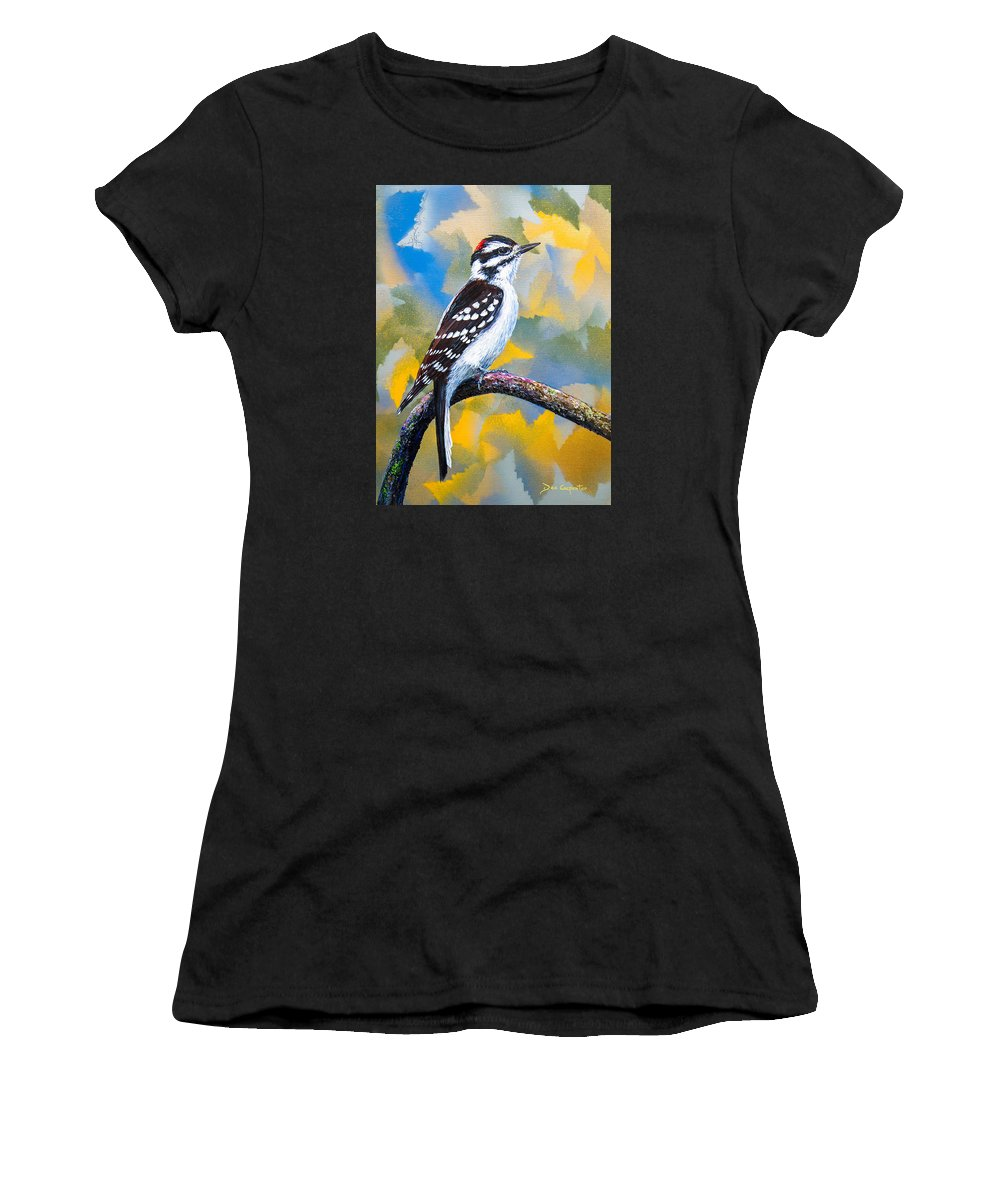 Downy Women's T-Shirt (Athletic Fit) featuring the painting Downy Boy by Dee Carpenter