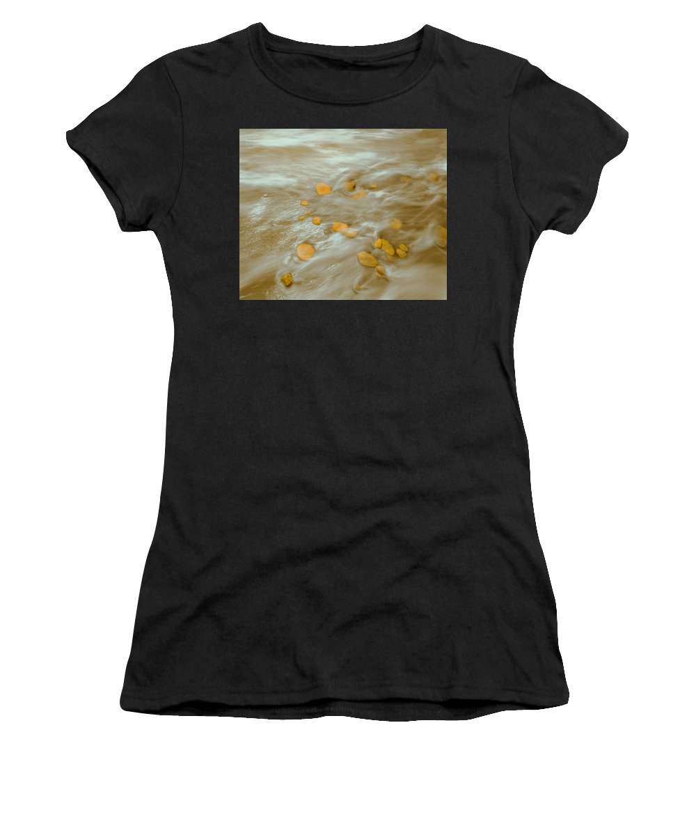 Tides Women's T-Shirt featuring the photograph Dp Stone Impressions 15 by Gary Bartoloni