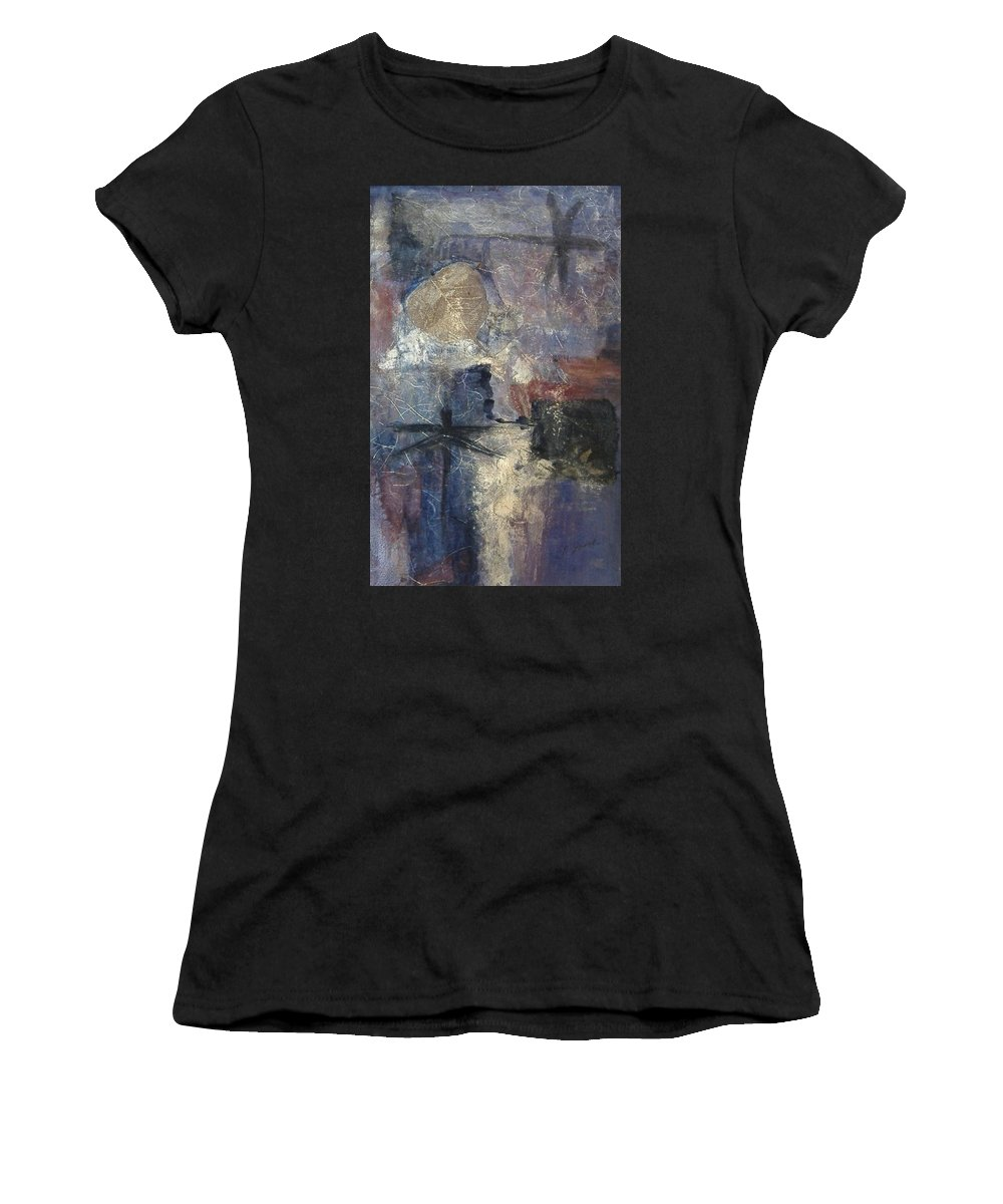 Collage Women's T-Shirt featuring the mixed media Dragonflies by Pat Snook