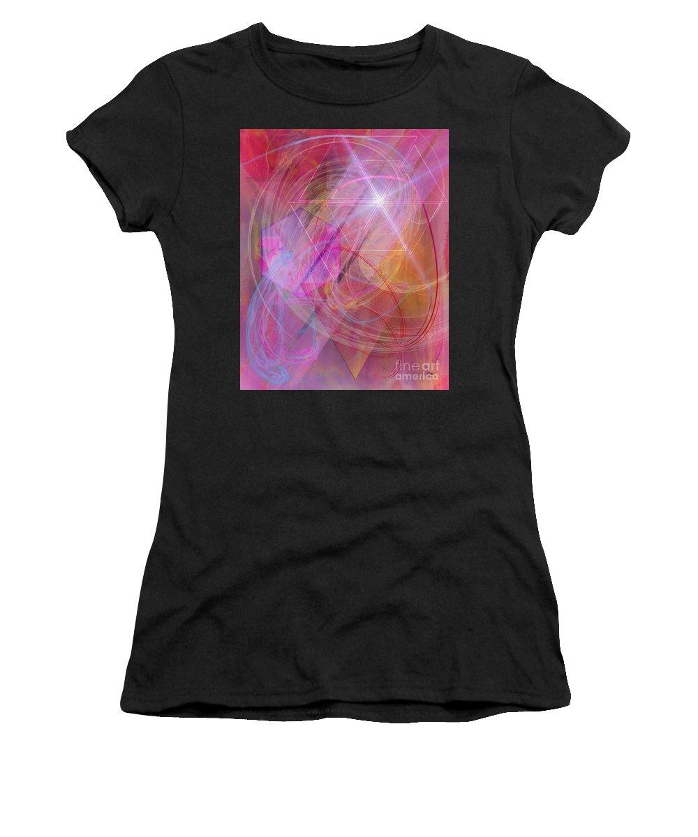 Dragon's Gem Women's T-Shirt (Athletic Fit) featuring the digital art Dragon's Gem by John Beck