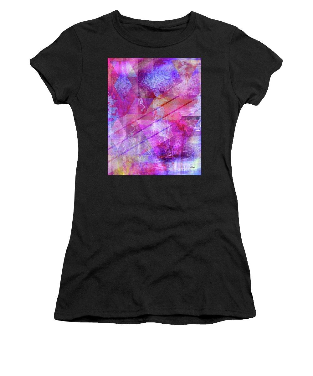 Dragon's Kiss Women's T-Shirt (Athletic Fit) featuring the digital art Dragon's Kiss by John Beck