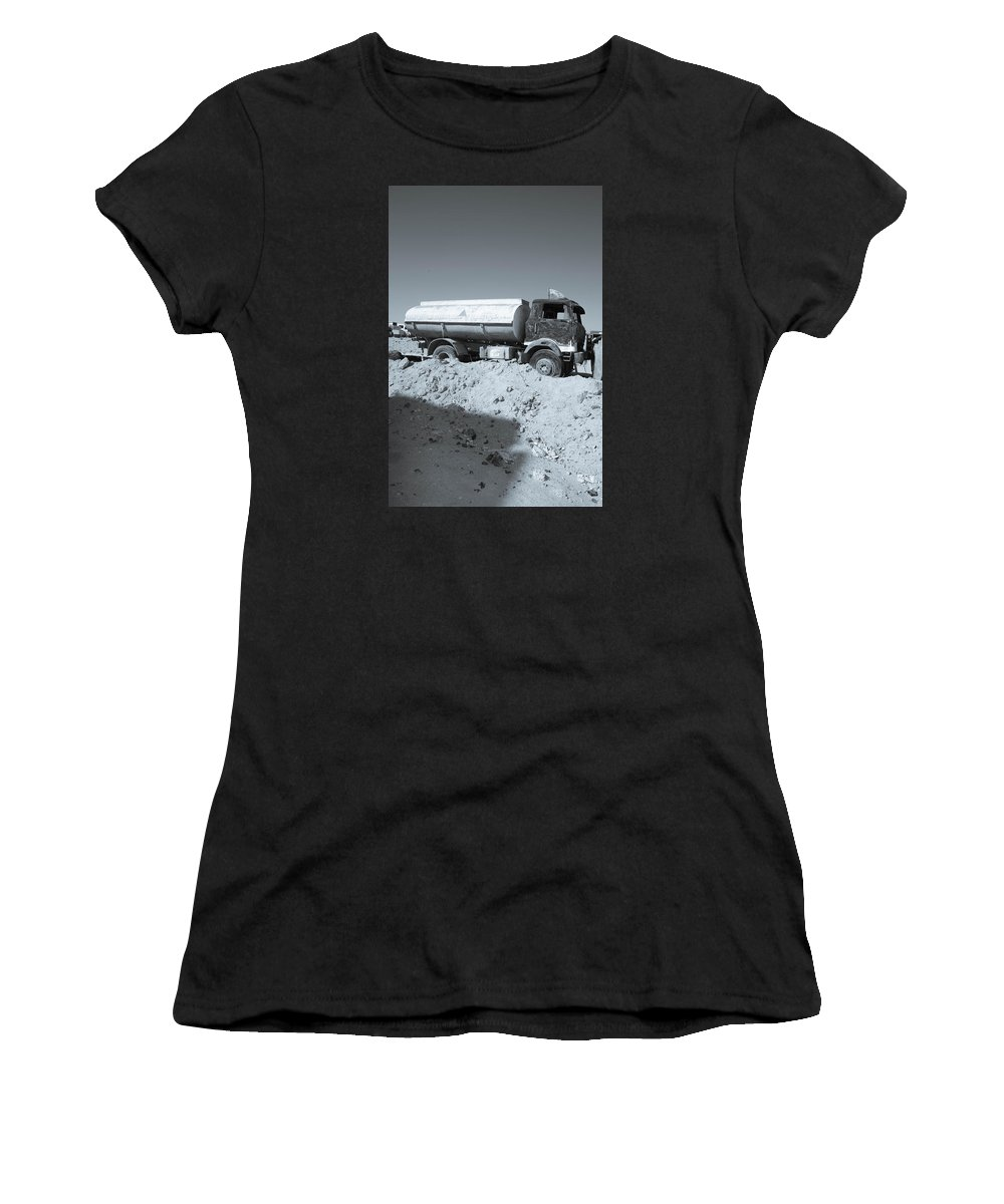 2015 Women's T-Shirt (Athletic Fit) featuring the photograph Drained For The While by Jez C Self