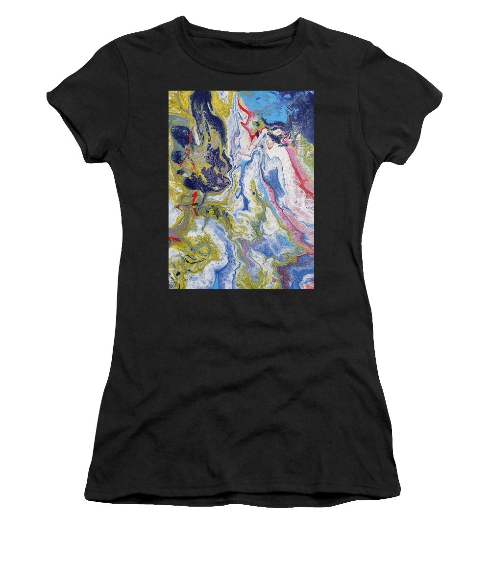 Dreams Women's T-Shirt (Athletic Fit) featuring the painting Dreams 1 by Giro Tavitian
