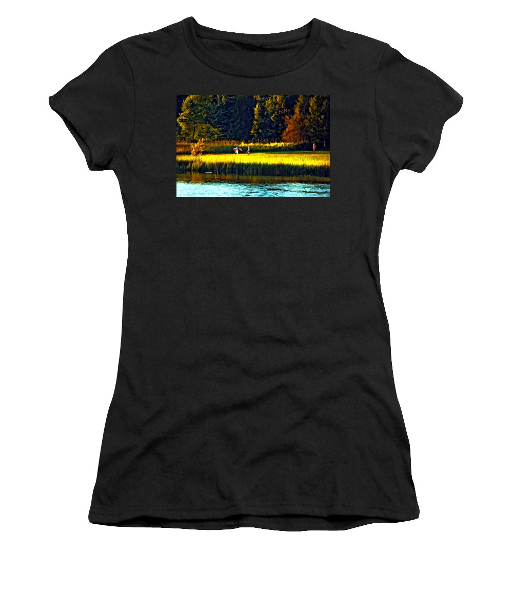 Kids Women's T-Shirt (Athletic Fit) featuring the photograph Dreams Can Fly Paint by Steve Harrington