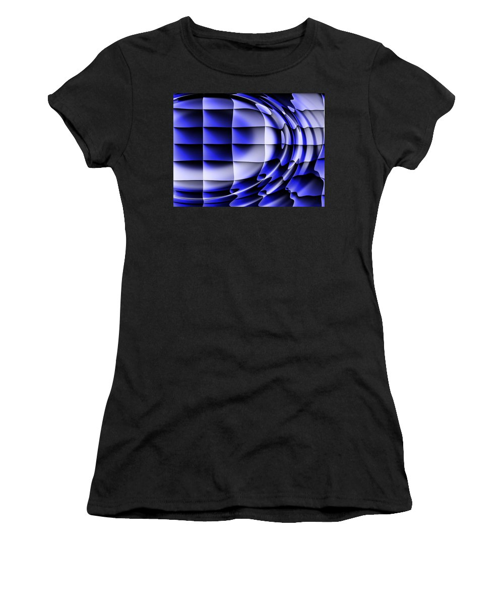 Squares Women's T-Shirt (Athletic Fit) featuring the digital art Dreams by Robert Orinski