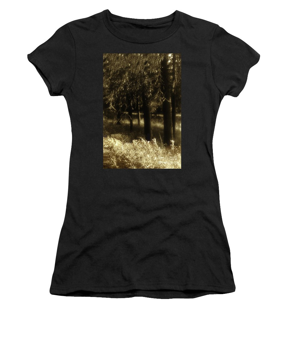 Trees Women's T-Shirt (Athletic Fit) featuring the photograph Dreamscape by Madeline Ellis