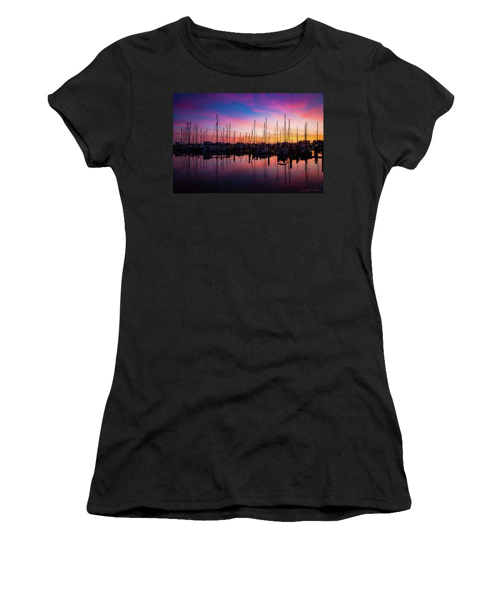 Marina Women's T-Shirt (Athletic Fit) featuring the photograph Dreamy Marina by Chris M Wiley