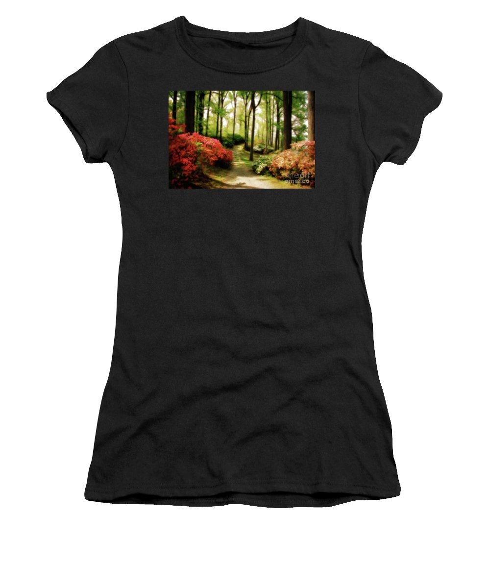 Landscape Women's T-Shirt (Athletic Fit) featuring the photograph Dreamy Path by Lois Bryan