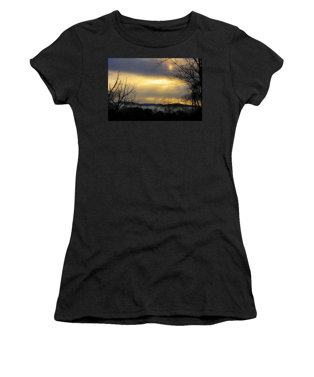 Sunrise Women's T-Shirt (Athletic Fit) featuring the photograph Dreamy Sunrise by Teresa Mucha