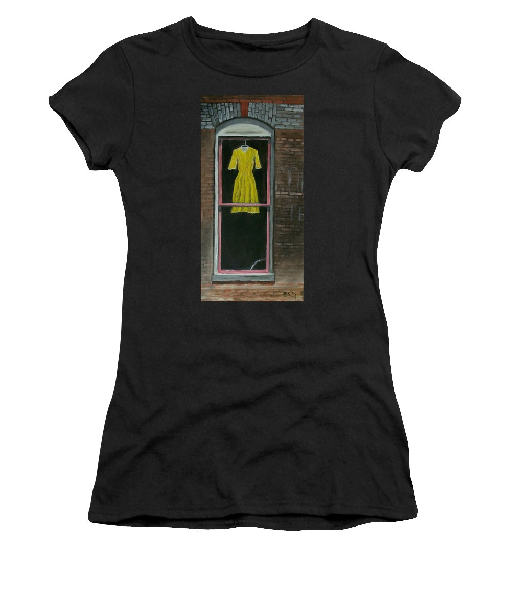 Original Women's T-Shirt (Athletic Fit) featuring the painting Dress Up by Stephen King
