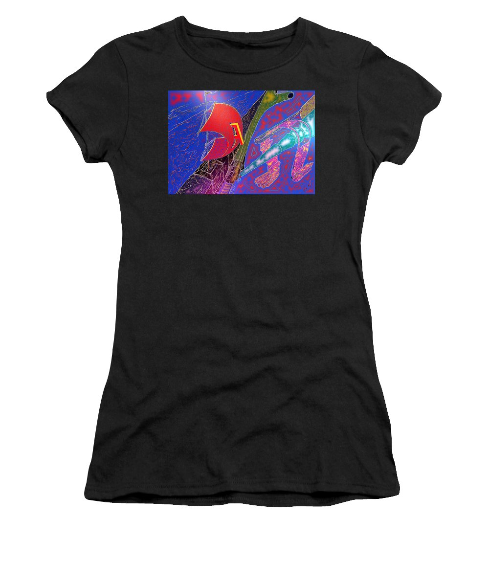 Drugs Women's T-Shirt (Athletic Fit) featuring the digital art Drugs by Helmut Rottler