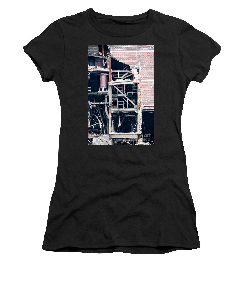 Dte Women's T-Shirt featuring the photograph Dte Marysville Michigan West Wall by Randy J Heath