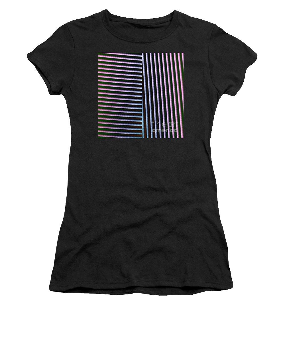 Digital Art Women's T-Shirt (Athletic Fit) featuring the digital art Duality II by Dragica Micki Fortuna