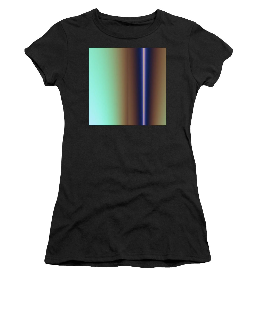 Digital Art Women's T-Shirt (Athletic Fit) featuring the digital art Duality IIi by Dragica Micki Fortuna