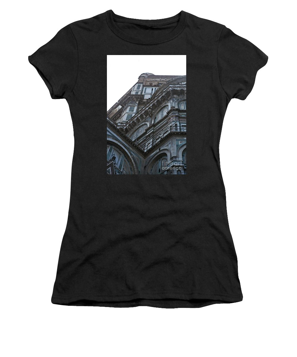 Architecture Women's T-Shirt (Athletic Fit) featuring the photograph Duomo In Florence by Nadine Rippelmeyer