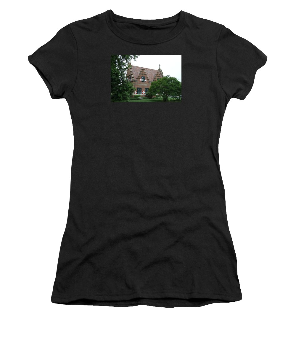 Dutch Women's T-Shirt (Athletic Fit) featuring the photograph Dutch Building - Henlopen by Christiane Schulze Art And Photography