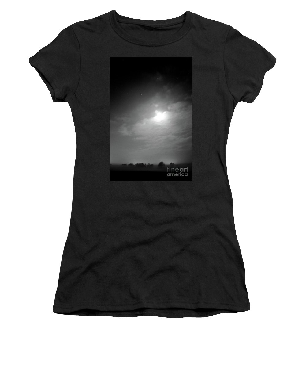 Fog Women's T-Shirt (Athletic Fit) featuring the photograph Early Morning Fog by Tommy Anderson