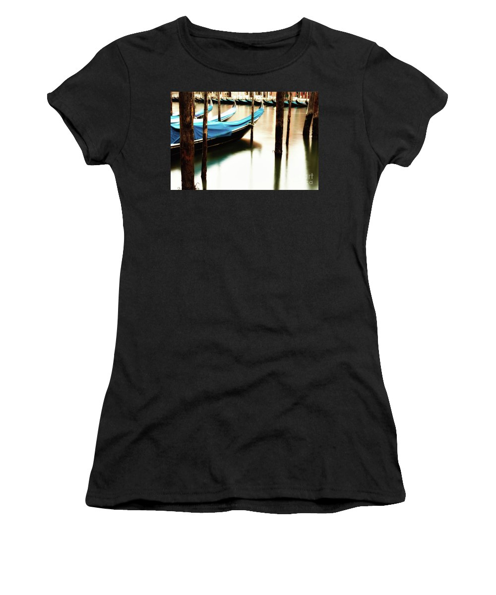 Reflection Women's T-Shirt featuring the photograph Early Morning Gondolas by Miles Whittingham