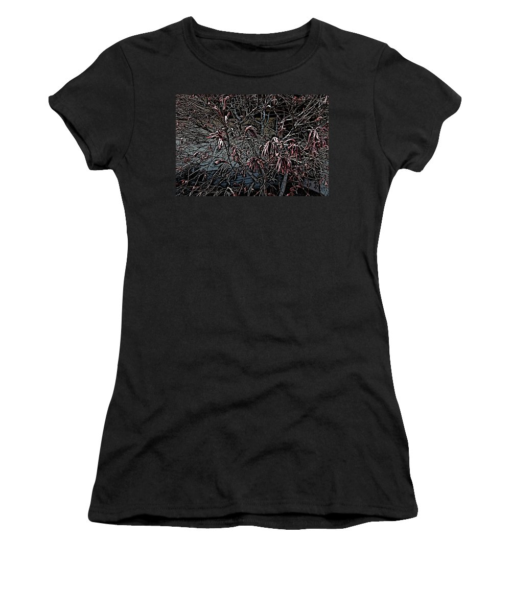Digital Photography Women's T-Shirt (Athletic Fit) featuring the digital art Early Spring Abstract by David Lane