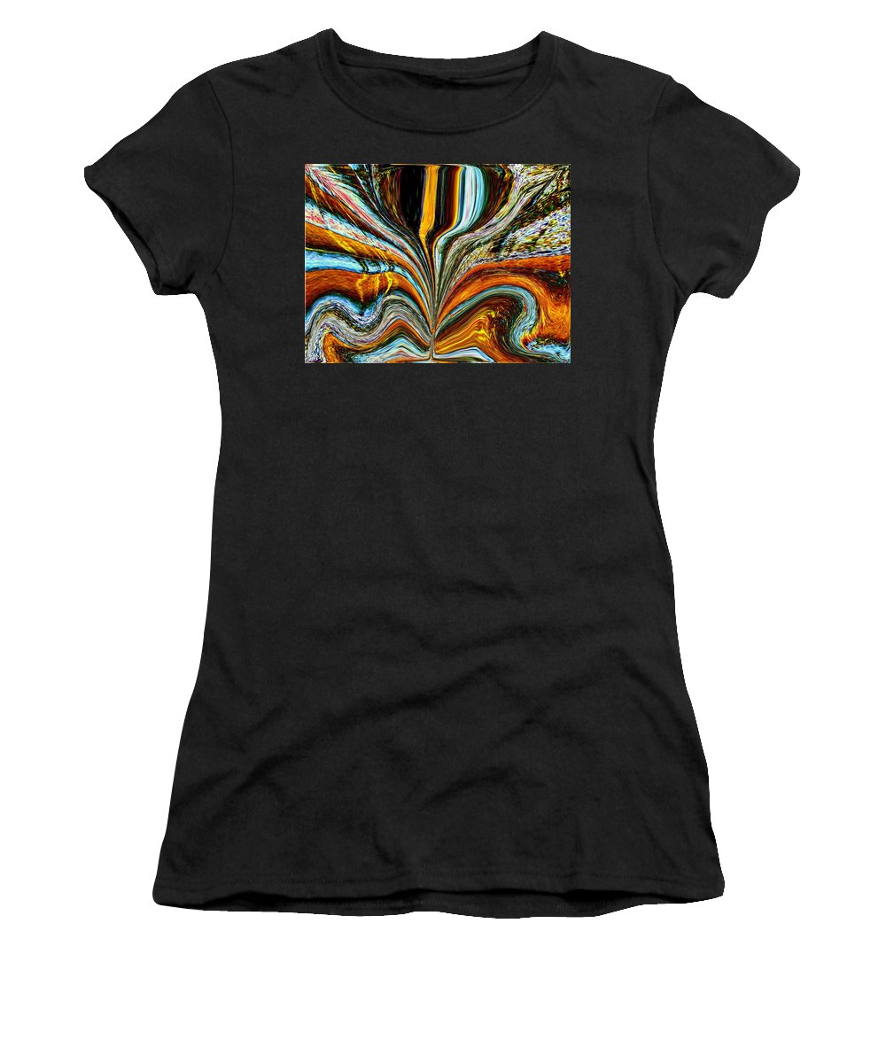 Women's T-Shirt (Athletic Fit) featuring the digital art Earth Bloom by Tim Allen
