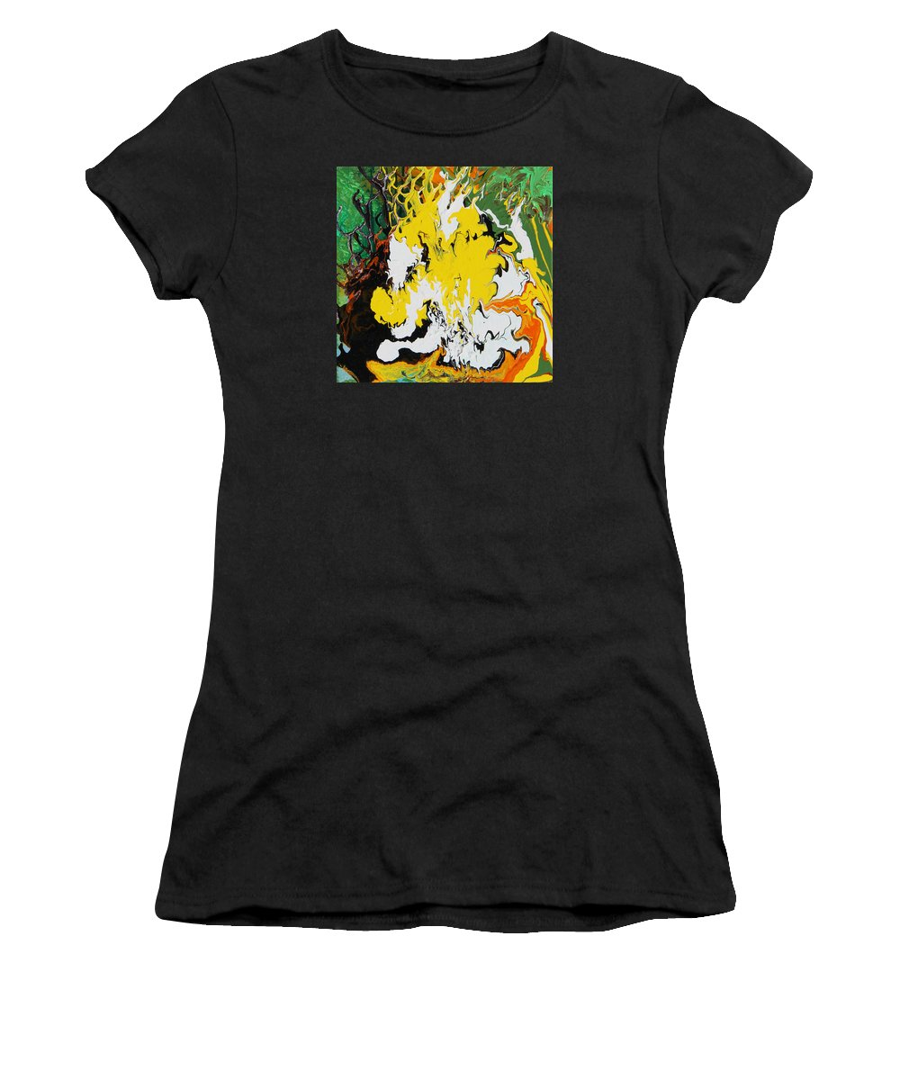 Fusionart Women's T-Shirt featuring the painting Earth by Ralph White