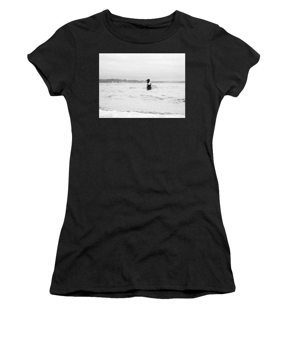 Water Women's T-Shirt featuring the photograph East Coast by Rachel Morrison
