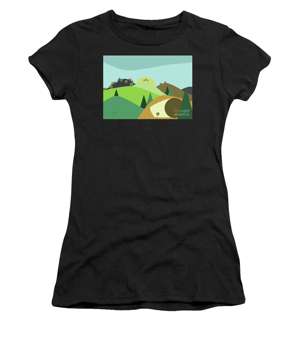 Spring Women's T-Shirt (Athletic Fit) featuring the digital art Easter Joy by Fady Dow