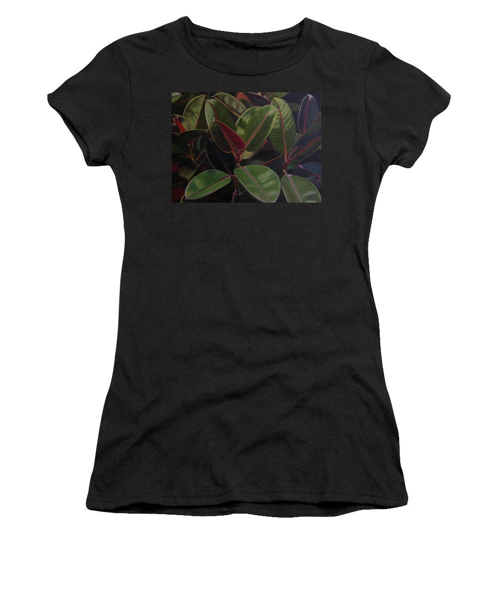 Landscape Women's T-Shirt (Athletic Fit) featuring the painting Easter Sunday by Thu Nguyen