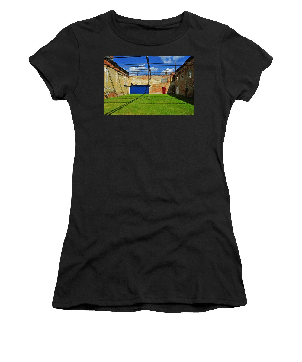 Skiphunt Women's T-Shirt (Athletic Fit) featuring the photograph Eco-store by Skip Hunt