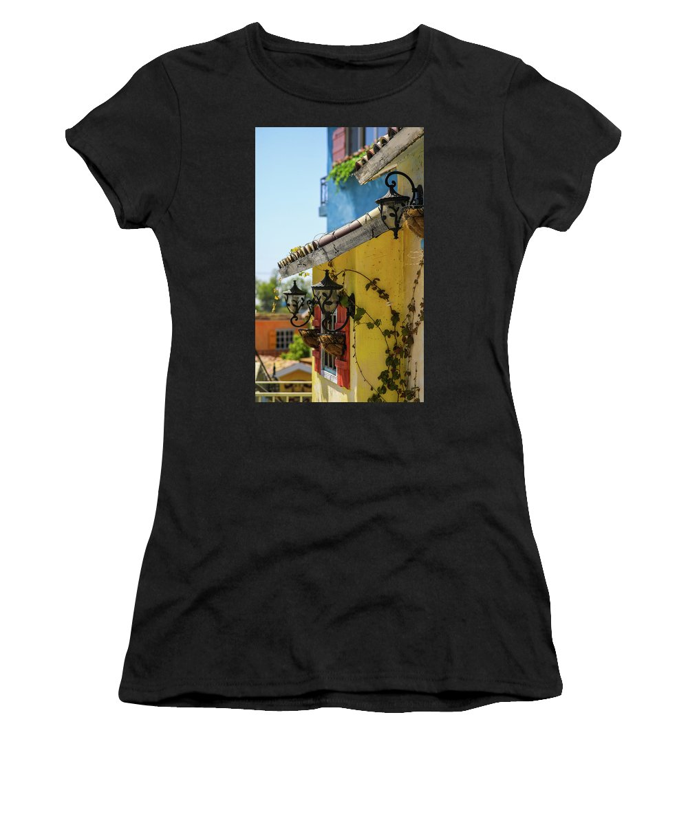 Spring Women's T-Shirt (Athletic Fit) featuring the photograph Edge Of House by Hyuntae Kim