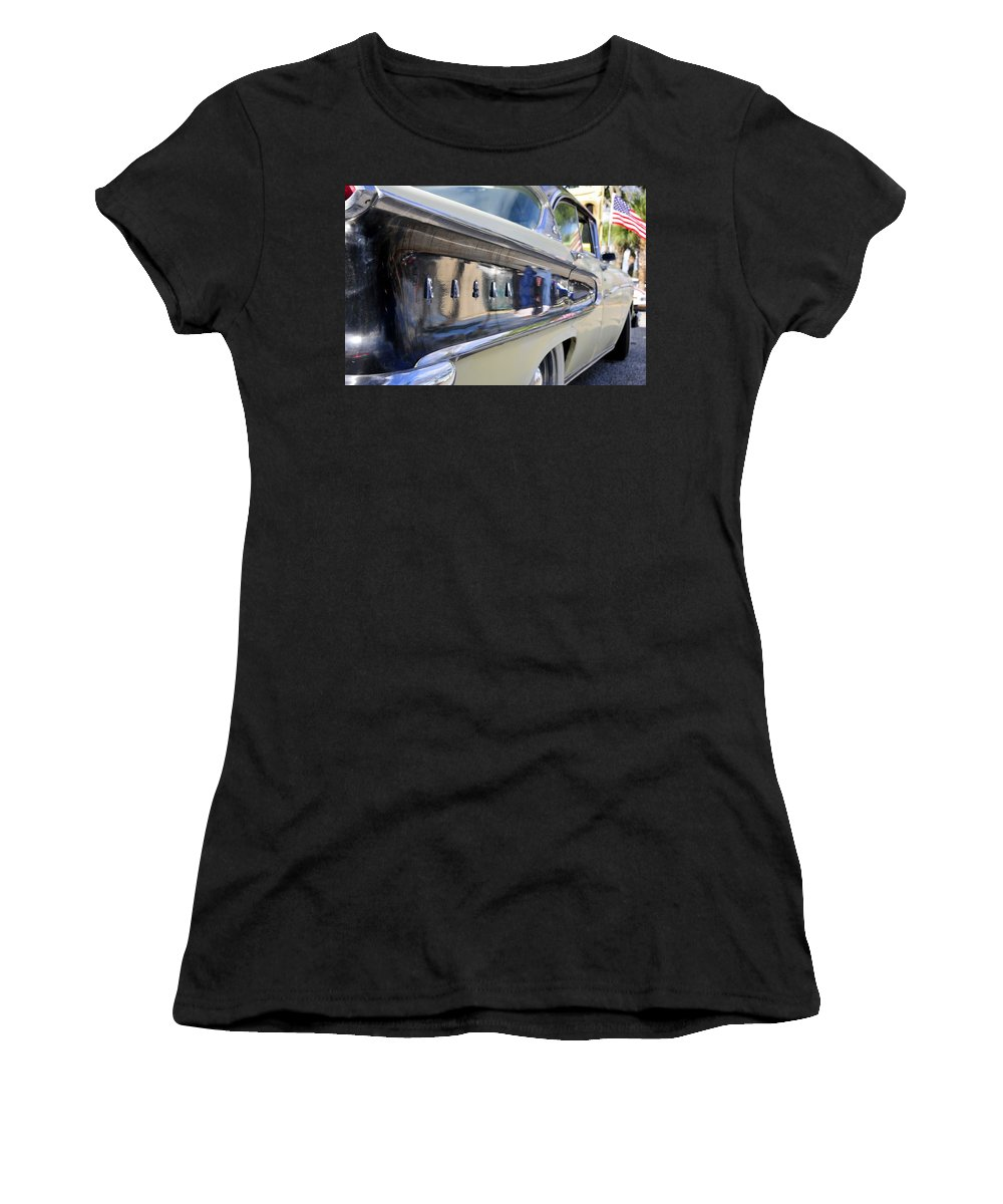 Parade Women's T-Shirt (Athletic Fit) featuring the photograph Edsel On Parade by David Lee Thompson