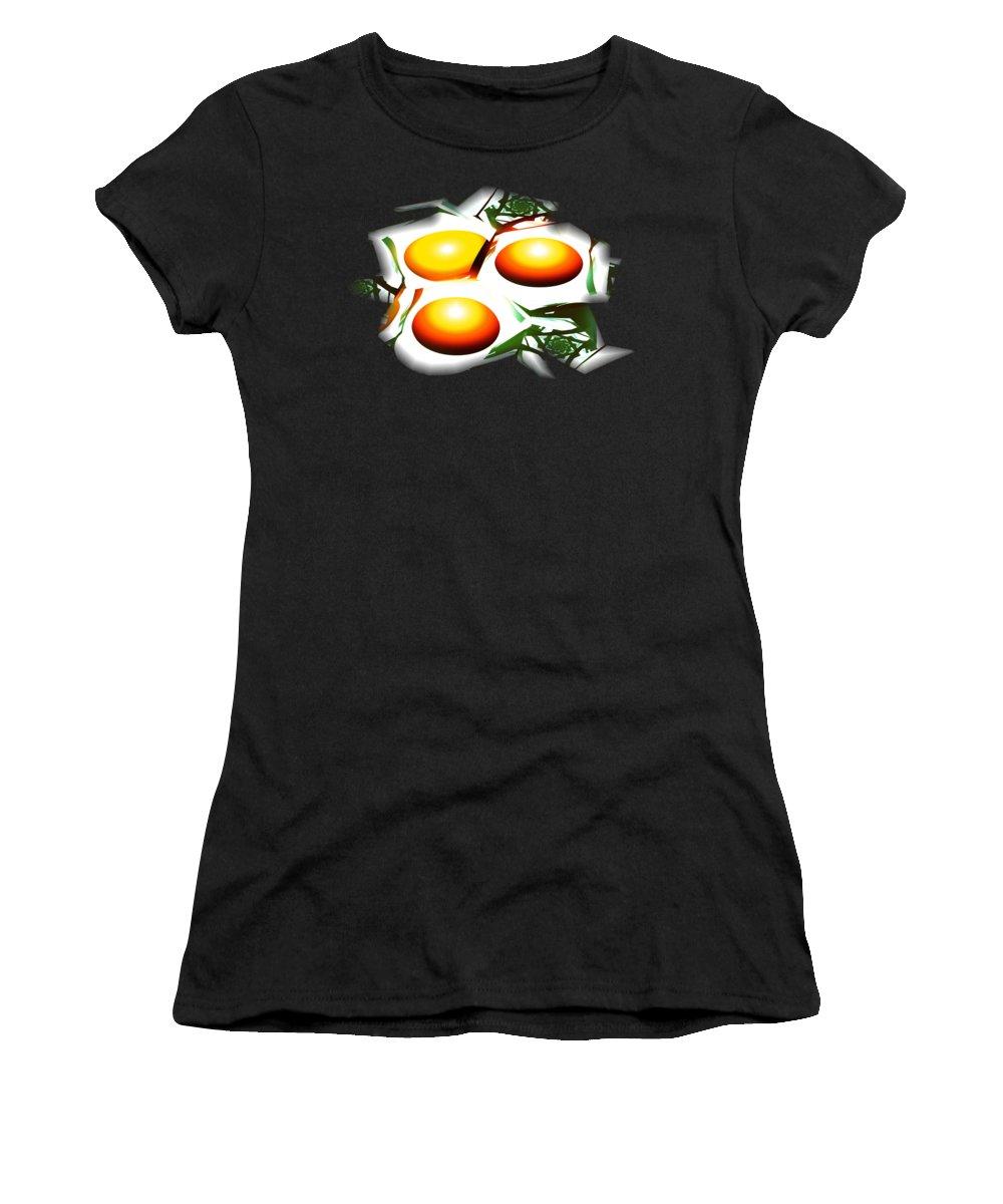 Computer Women's T-Shirt featuring the digital art Eggs For Breakfast by Anastasiya Malakhova