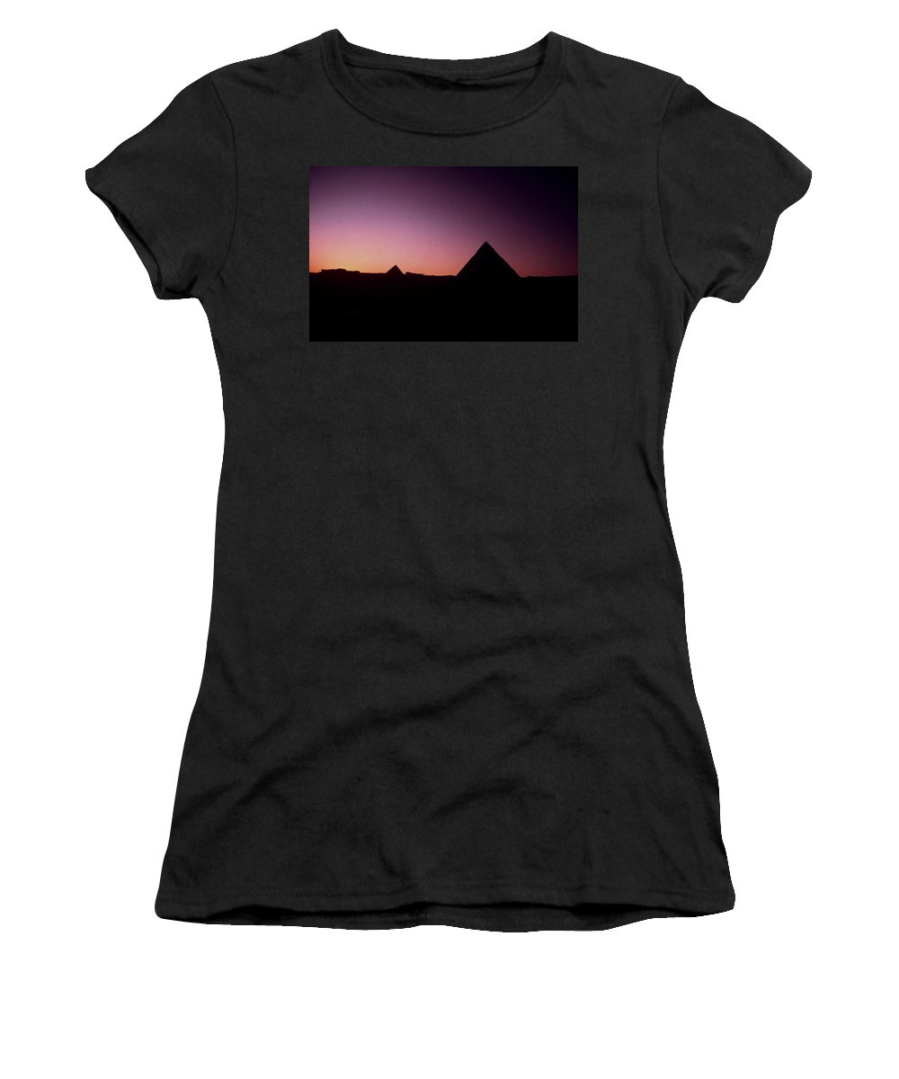 Egypt Women's T-Shirt featuring the photograph Egyptian Sunset by Gary Wonning