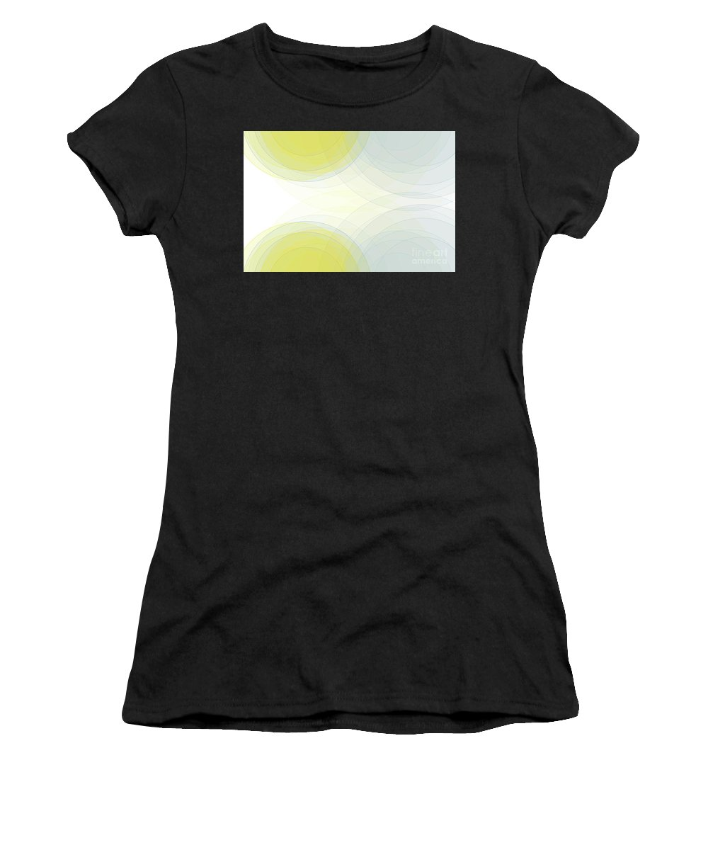 Abstract Women's T-Shirt (Athletic Fit) featuring the digital art Electricity Semi Circle Background Horizontal by Frank Ramspott