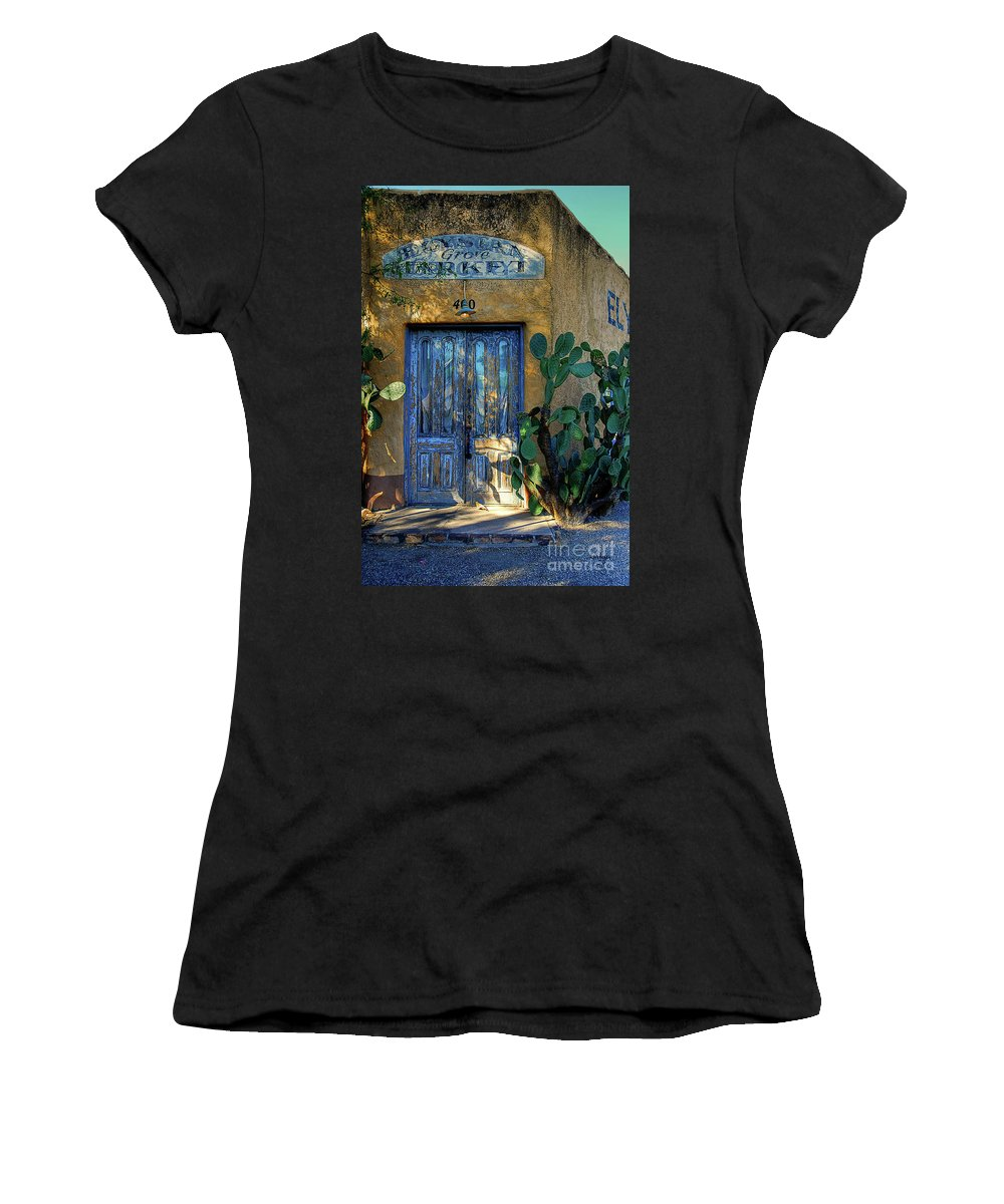Door Women's T-Shirt (Athletic Fit) featuring the photograph Elysian Grove In The Morning by Lois Bryan