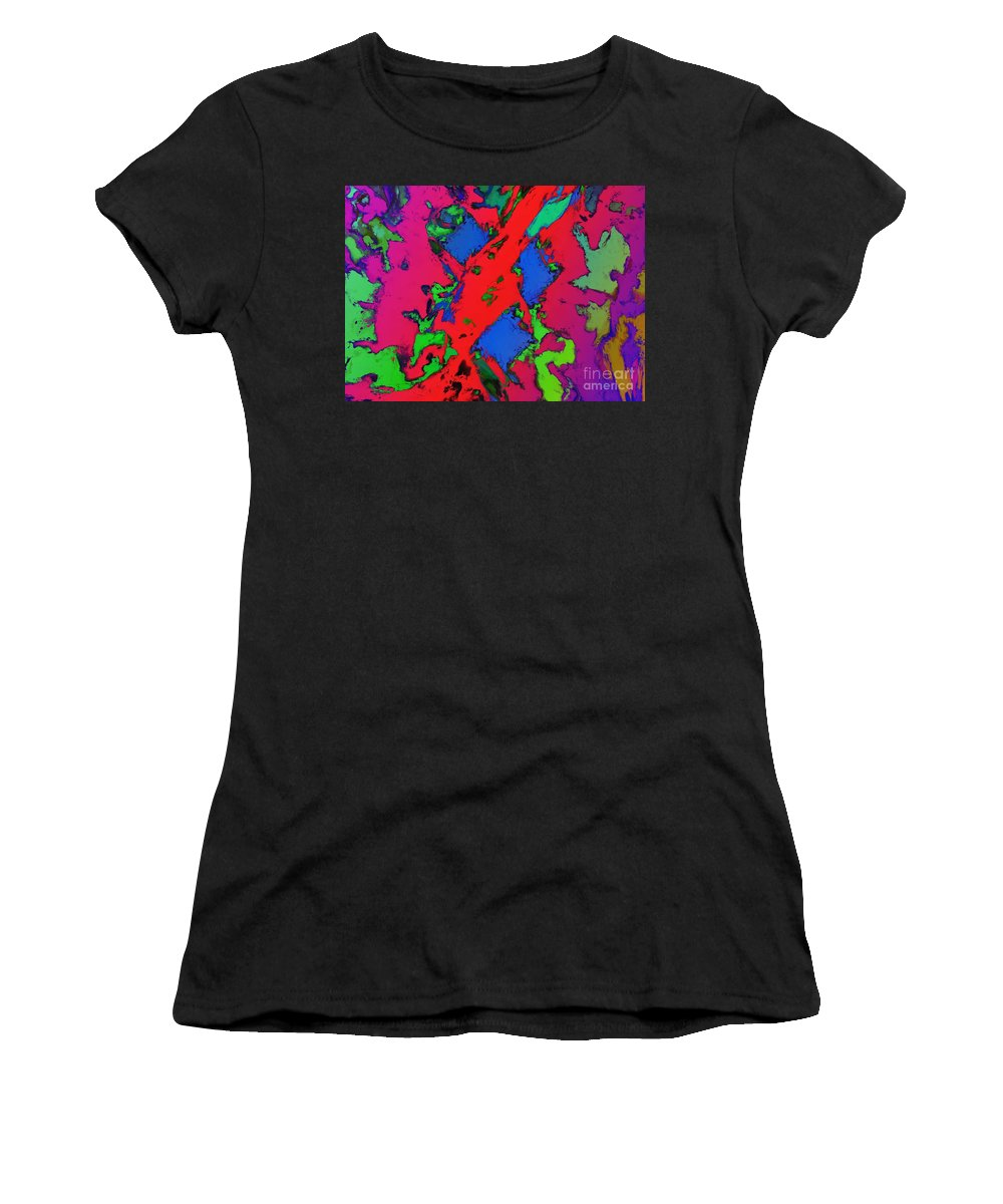 Emergency Women's T-Shirt (Athletic Fit) featuring the digital art Emergency Flares by Keith Mills