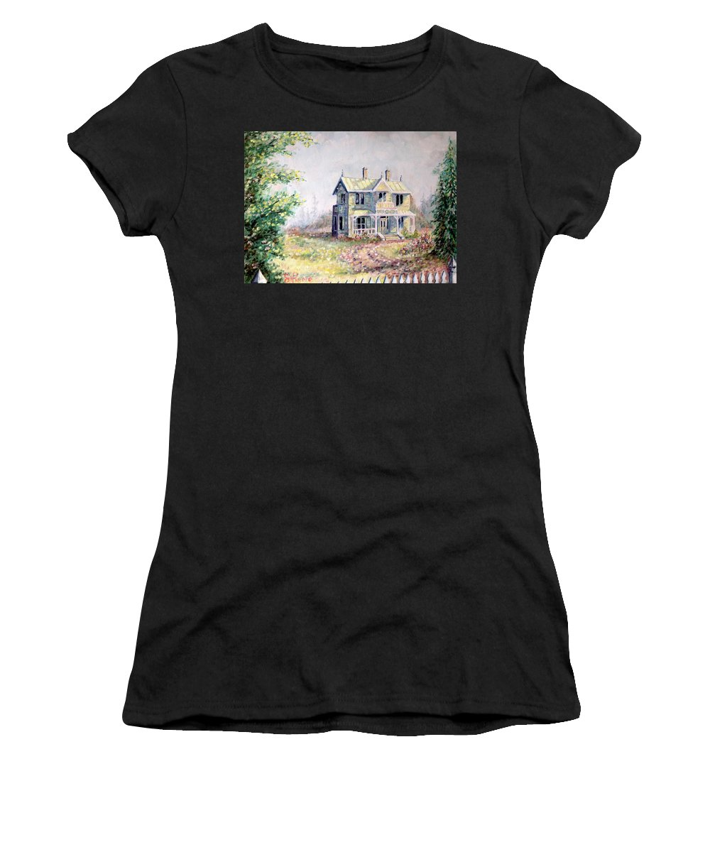 Emily Carr's Birthplace Women's T-Shirt featuring the painting Emily Carr's Birthplace by Georges St Pierre