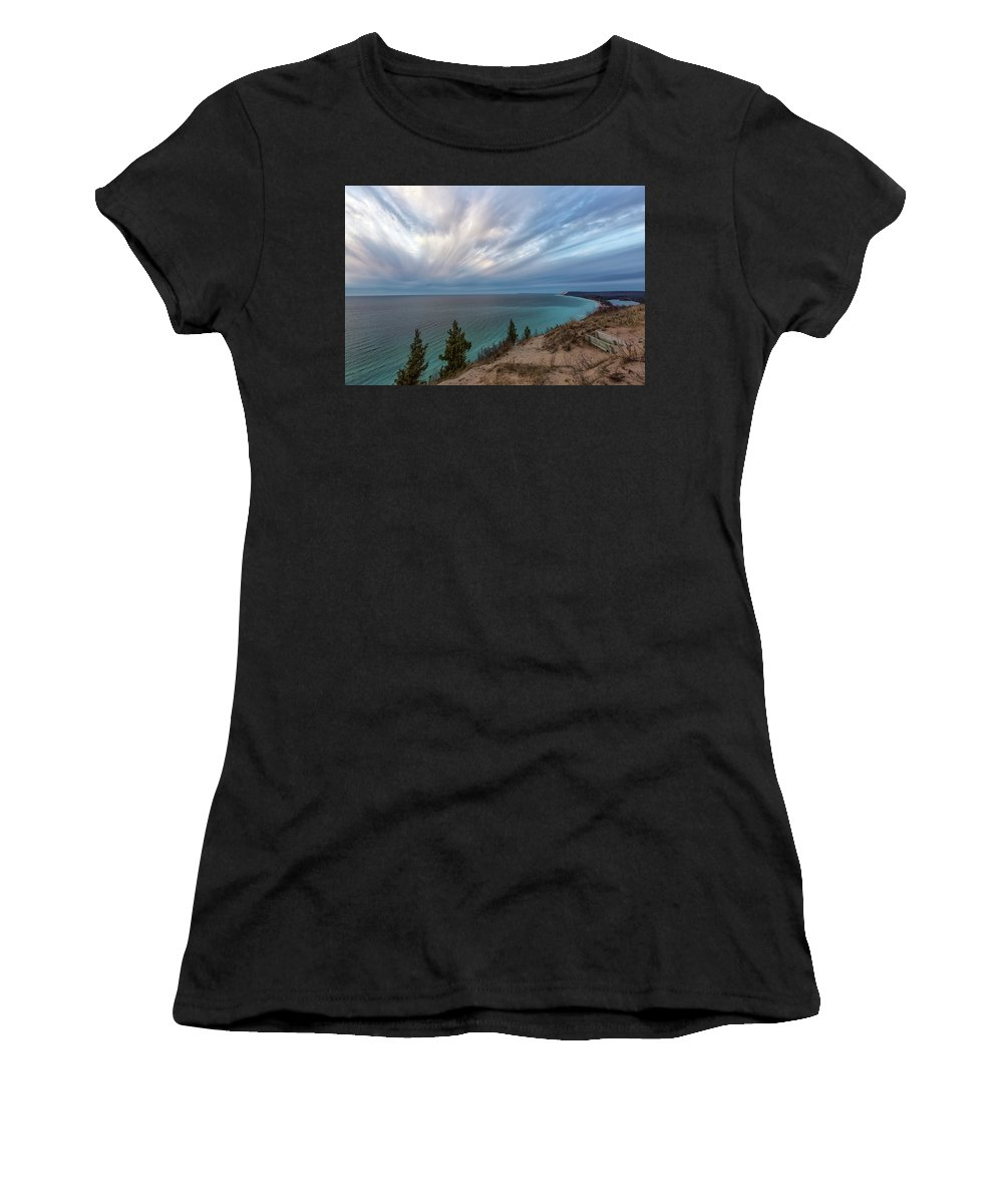 Empire Women's T-Shirt (Athletic Fit) featuring the photograph Empire Bluffs 5 by Heather Kenward