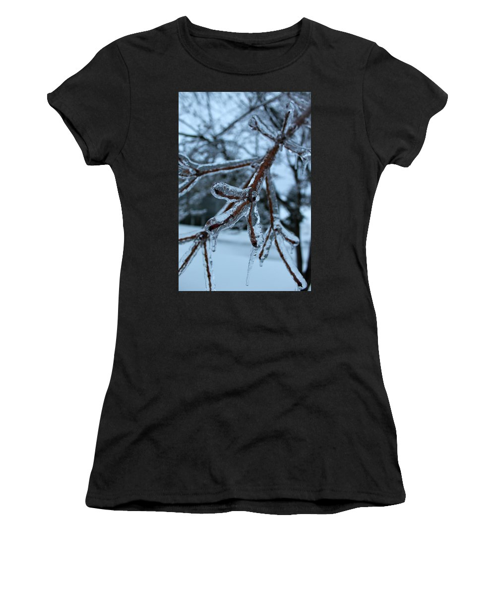 Closeup Women's T-Shirt (Athletic Fit) featuring the photograph Encased by Margre Flikweert