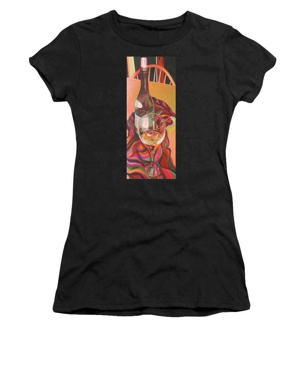 Still Life Women's T-Shirt featuring the painting Enchant by Trina Teele