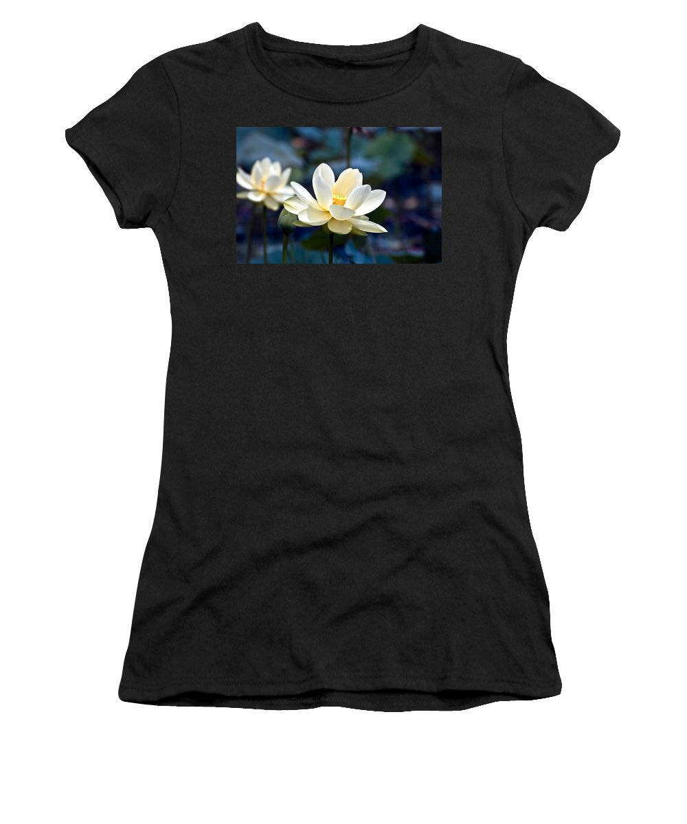 Lotus Women's T-Shirt featuring the photograph Enchanting Lotus by Rich Leighton