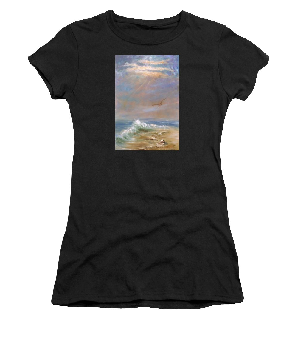 Landscape Women's T-Shirt (Athletic Fit) featuring the painting Endless Wonder- Sold by Vivan Robinson