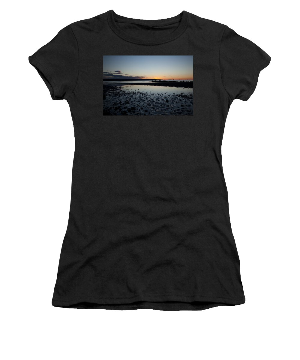 English Women's T-Shirt (Athletic Fit) featuring the photograph English Bay Sunset by Monte Arnold
