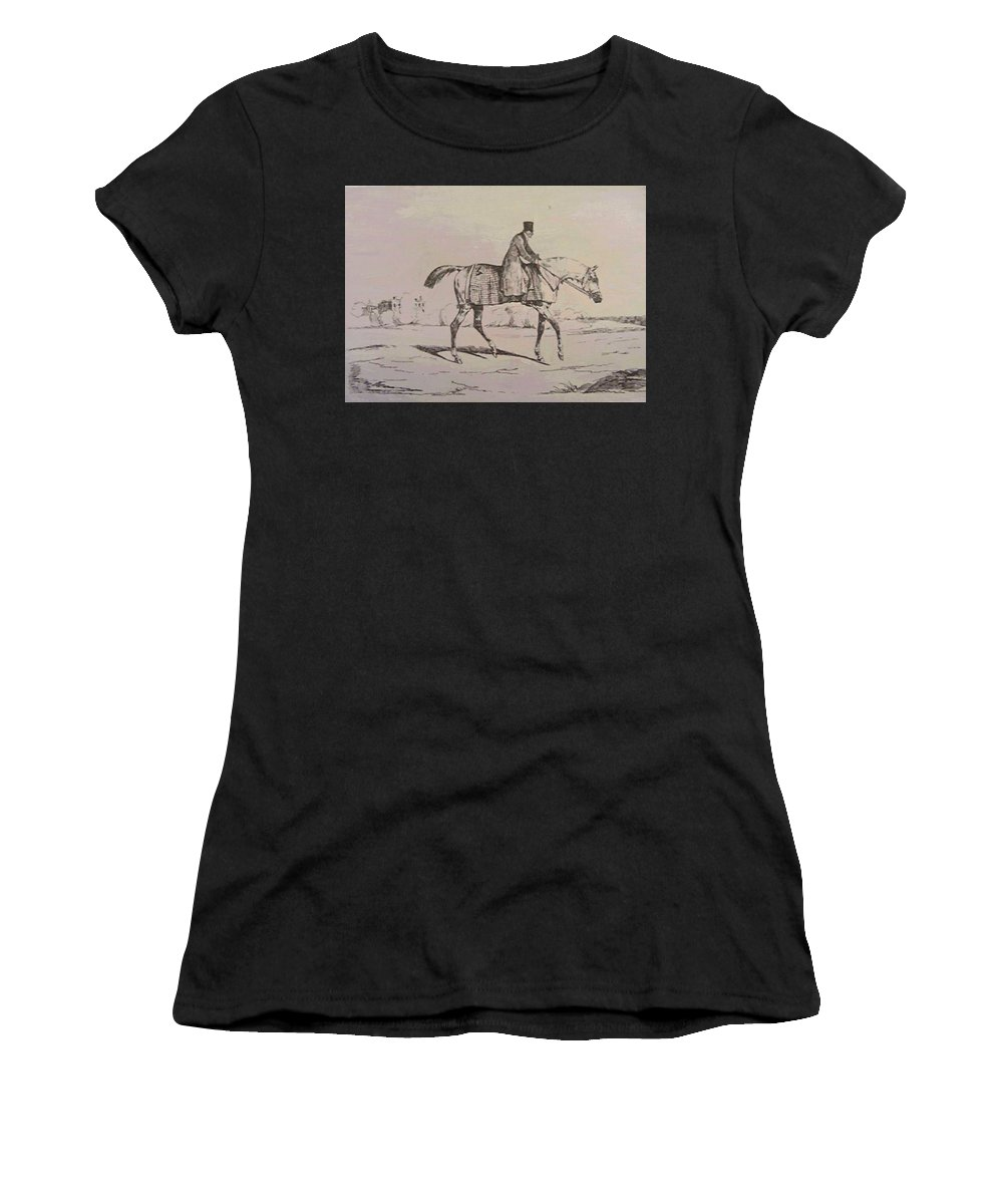 English Women's T-Shirt (Athletic Fit) featuring the painting English Jockey by Gericault Theodore